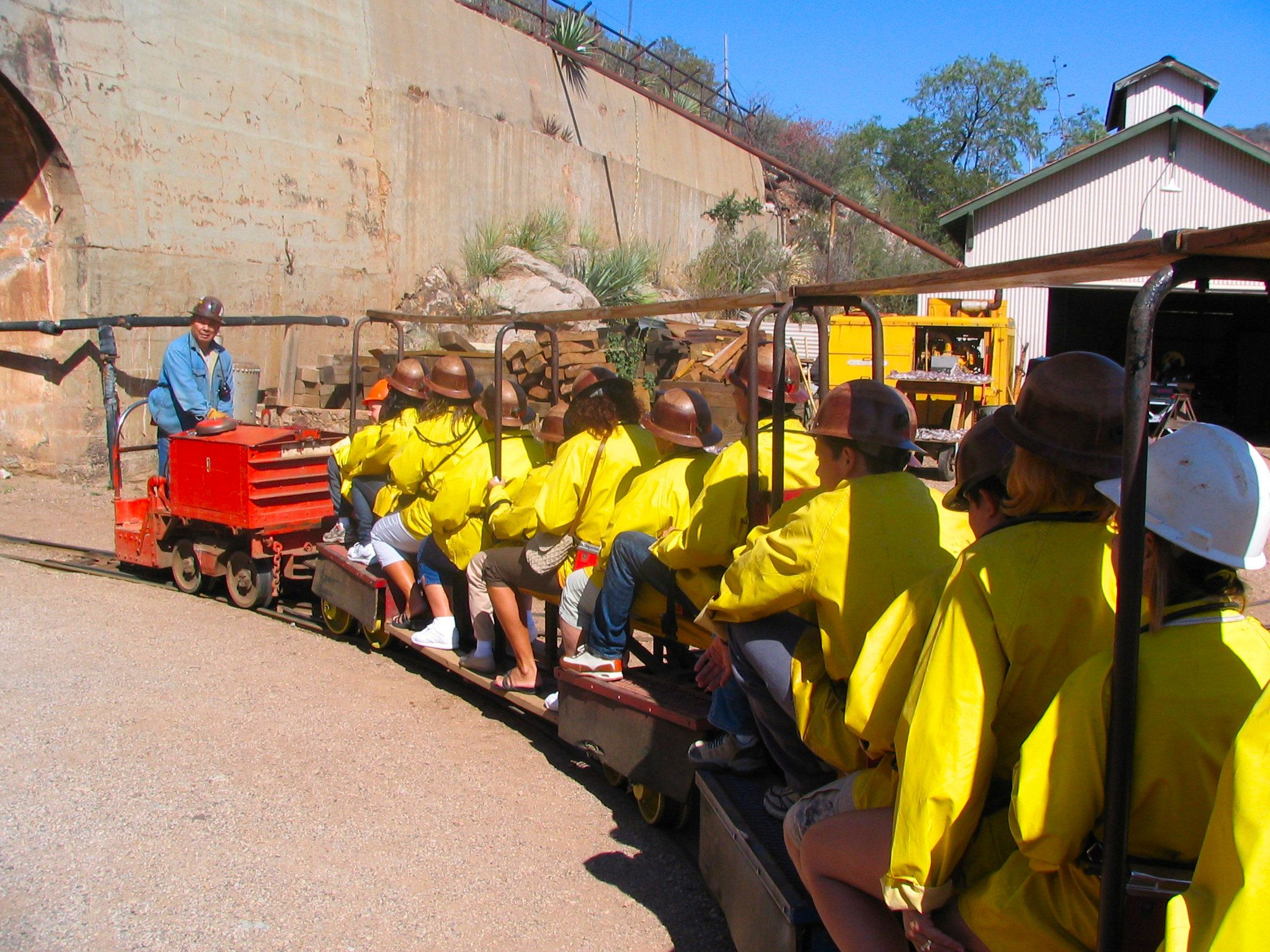Loaded mine train
